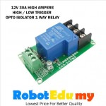 12V 30A 1 Way High Low Level Trigger Opto Isolator Relay Module