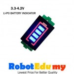 3.3V - 4.2V Lithium  Li-Po Battery Voltage Indicator Display
