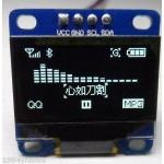 128 x 64 Blue I2C IIC Arduino OLED Display for Arduino Raspberry Pi ;