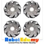 4inch 100mm Omni Directional Mecanum Wheel Set ; Rollers Motion Tyre