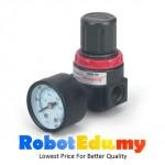 AR2000 Pneumatic Air Gas Pressure Regulator Valve Bracket Gauge
