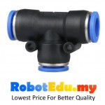 PE6 T Tee Shaped Pneumatic Fitting 6mm ; Quick Touch Push In