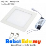 ULTRA-THIN 9W Square LED Panel Ceiling Partition Downlight Light Lamp