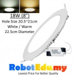 ULTRA-THIN 18W Round LED Panel Ceiling Partition Downlight Light Lamp