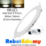 ULTRA-THIN 4W Round LED Panel Ceiling Partition Downlight Light Lamp