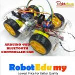Arduino 4WD Bluetooth Motor Controlled Robot Car DIY Kit
