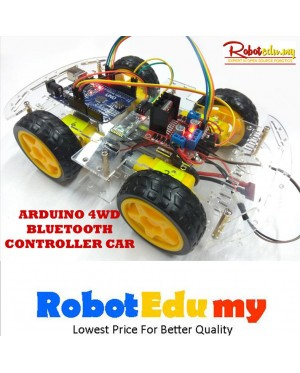 Arduino 4WD Bluetooth Motor Controlled Robot Car DIY Kit