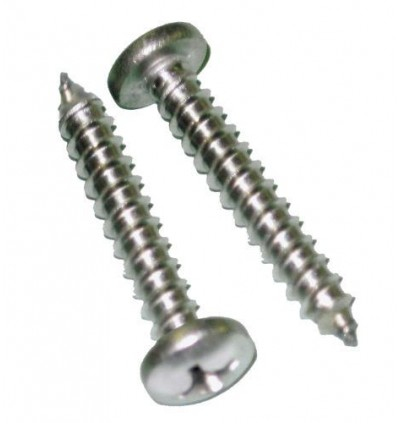 Nickel Plating Round Pan Phillips Self Tapping Screws #8 1~2 Inch