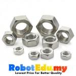 Stainless Steel Hex Nut Screw Bolt-  M2 M3 M4 M5 M6 M8 M10 (1 unit)