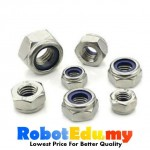 Stainless Steel Nylon Lock Hex Nut Screw Bolt -  M3 M4 M5 M6 M8 M10