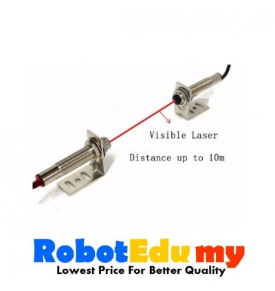 Laser Pair Diffuse Reflection Visible Light Photoelectric Sensor