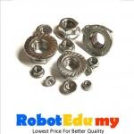 Aluminium Profile Zinc Plating Hex Flange Nut (1 pcs)-M4 M5 M6