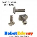 Aluminium Profile 3030 EU 30 T Slot T Bolt M6 ( 16 , 20 mm )