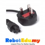 Power Cord Cable UK Plug 13A Fused 3 Pin Clover Leaf Laptop Notebook