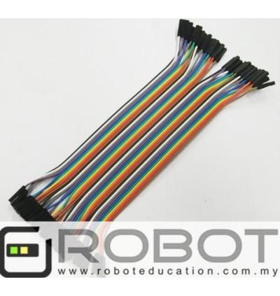 Arduino 40p Breadboard Dupont Jumper Wire Female to Female (FF) 10cm / 20cm / 30cm