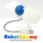 DIY Power Bank Portable Flexible High Speed Rubber USB Mini Fan