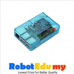 Raspberry Pi  2B 3B 3B+ ABS Casing with Fan Heatsink (Sky Blue/Black/Transparent)