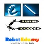 12V LED Strip 6 Lamps Super Bright Waterproof (Ice Blue)-1 unit