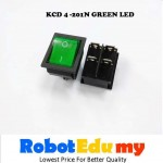 KCD4-201N Rocker Switch With Green / Red LED On Off Button (4 pin)