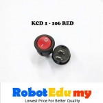 KCD1-106 Rocker Switch Button Red / Black On Off Button