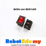 KCD1-101 Rocker Switch Red With LED On Off Button 21*15mm