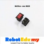 KCD11-101 Rocker switch Red / Black On Off Button 10*15mm