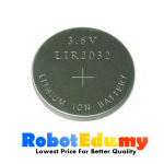 LIR2032 Rechargeable Lithium Ion 3.6V Button Cell Battery CR2032