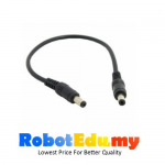 DC Power 5.5 X 2.1mm / 2.5mm Male To Male Plug Cable 3A 25CM