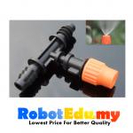 8mm Three Way Micro Spray Atomization Water Flow Nozzle Head Garden