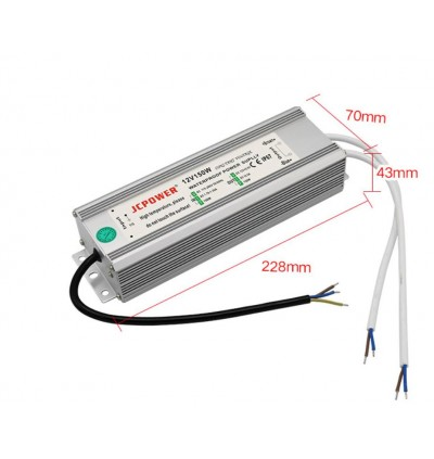 DC 12V 12.5A 150W Waterproof IP67 CCTV LED Driver Outdoor Power Supply Adapter