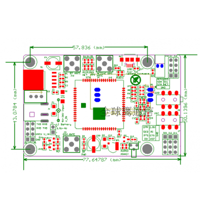 SIM808 GSM GPRS GPS Development Board Module IPX SMA & GPS Antenna SIM800A