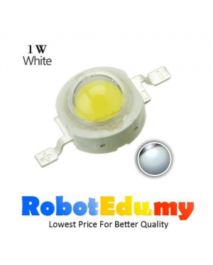 1W High Power LED Beads 1 Watt Lamp Chip Component 80-90LM 6000K (Cool White)