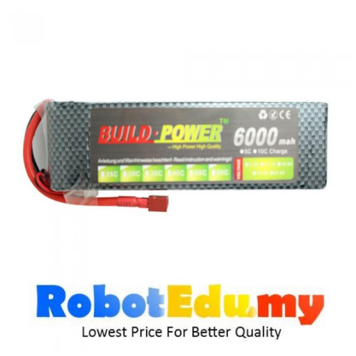 High Amp Battery >> 22 2v 25c 6s 6000mah Lipo Li Po Rechargeable High Amp Lithium Battery