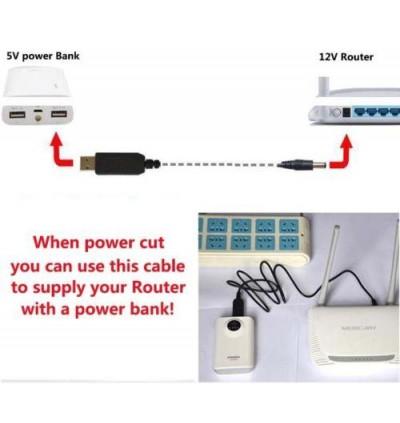 USB DC to DC 5V to 9V / 12V Step Up Voltage Converter Cable 5.5mm x 2.1mm (1m)