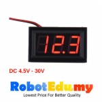 0.56 inch M657 Digital Display DC Voltmeter 4.5-30V / DC4.5-30V LED Red 2 Wires