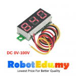 0.28 inch Digital Voltmeter DC 0-100V RED Light LED Panel Voltage Meter 3 Wires