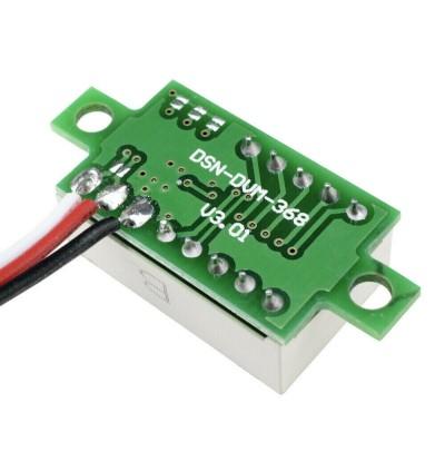 0.36inch Digital Voltmeter DC 0-30V RED Light LED Panel Voltage Meter 3 Wire