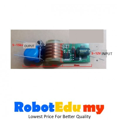 High Voltage 7.4v boost 15kv Pulse Arc Boost Coil High Voltage Booster Module