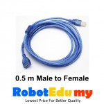 USB Male To Female Data Connection Extension Cable (0.5 m)