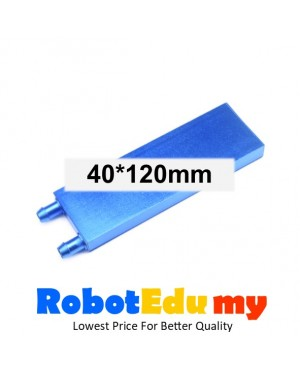 40x120mm Blue CPU Liquid Water Cooled Head Plate Semiconductor Refrigeration Fin Radiator