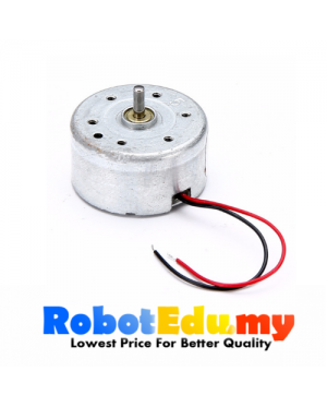 DC 5V-6V 6600RPM Mini 300 Solar Power Motor Low Noise Small Round Toy Motor DIY