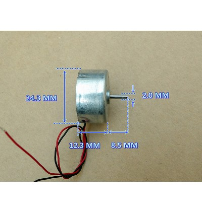 DC 5V-6V 7600RPM Mini 300 Solar Power Motor Low Noise Small Round Toy Motor DIY