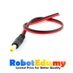 25cm DC 5.5 x 2.1mm Male PVC Cable Extension Power Jack Adapter Connector CCTV