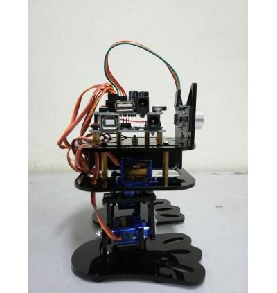 Arduino UNO DIY 4-DOF 2 Feet Humanoid Robot Dancing Robot Obstacle Avoiding Robot