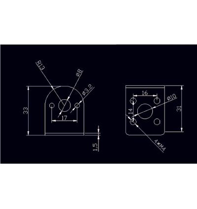 25MM ROUND 370 Motor 1.5MM JGA25 JGA25-370 DC MOTOR BRACKET / HOLDER