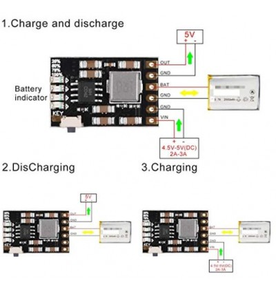 MH-CD42 DC 5V 2.1A Mobile Power Diy Board 4.2V Charge/Discharge(boost)