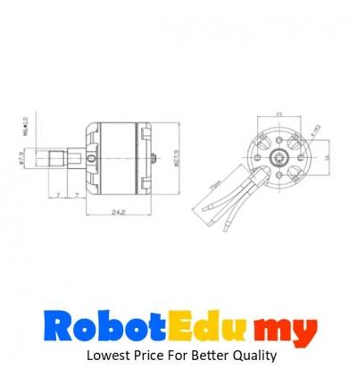 YH RC motor 2212 KV900 F450 F550 four /six /multi axis multi-rotor self-locking brushless motor