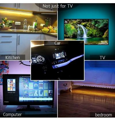 USB 5V RGB 5050 IP65 Waterproof RGB LED Strip With 3 Control Button
