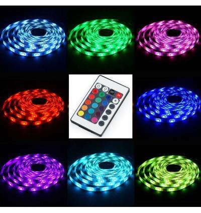 USB 5V RGB 5050 IP65 Waterproof RGB LED Strip With 24 Control Button
