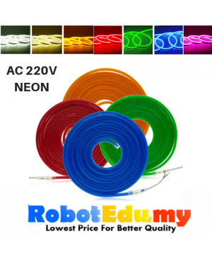 1M AC220V 2835 Flex LED Neon Strip Light Silicone Tube 8mm*16mm Waterproof IP67